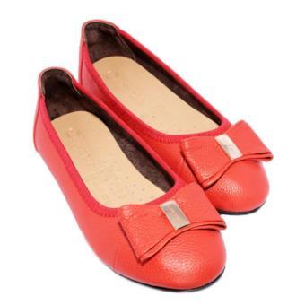 Giày Búp Bê nữ da bò Minh Tâm MT706GN