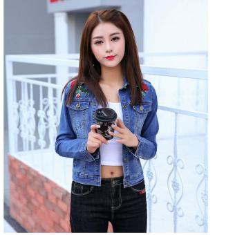 Áo khoác jean nữ TITISHOP NT229616 ( XANH )