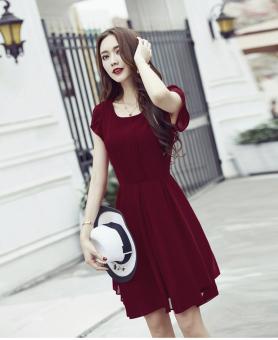 Đầm voan xòe tiểu thư Lyta TAT250D (màu đỏ)