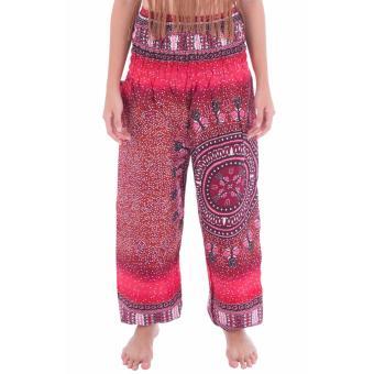 Quần RUBY RED COMPASS HAREM PANTS màu đỏ sang trọng có túi size S
