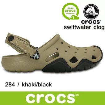 Giày lười nam Crocs Swiftwater Clog M Kha/Blk 202251-284 (Nâu)