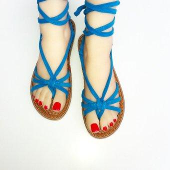 Giày cột dây nữ S03 (xanh biển)
