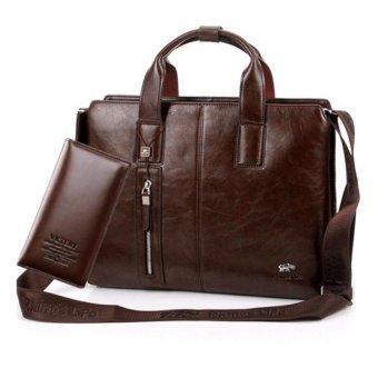 Bộ túi xách công sở và ví cầm tay thời trang (Nâu cafe)