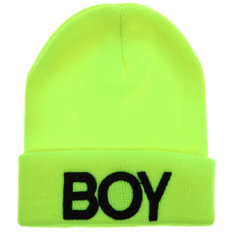 Boy Knitted Woolen Hat(Yellow Black) (Intl)