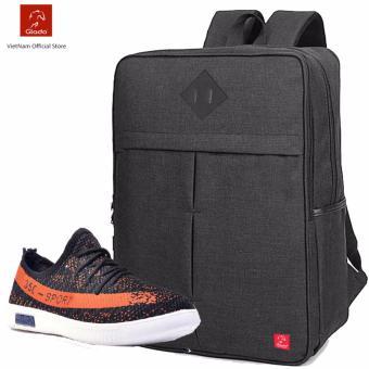 Combo Balo Cylinder BLC005BA (Đen) + Giày Sneaker GS070BA (Đen) - CB003