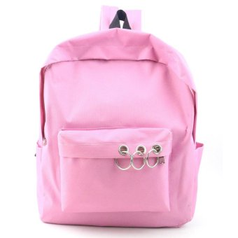 Women Fashion Travel Satchel School Bag Backpack Bag Pink - intl