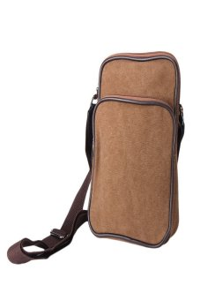 HKS Men's Shoulder Bag Brown - intl