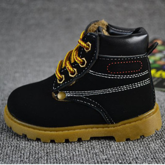 Winter Autumn Baby Child Kids Boys Girls Army Style Martin Boot Lace Boots Shoes - Intl - Intl