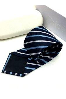 Cà vạt lụa thời trang bản vừa Victoria90 VT6009-4 (Xanh)