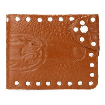 Fasion Men Business PU Leather Short Folding Wallet Card Purse (Int: One size) - Intl