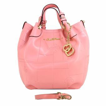 Túi xách tay nút cài Carlo Rino 0303185-002-24 (màu hồng)