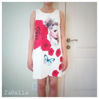 Đầm in họa tiêt hoa - ZA529