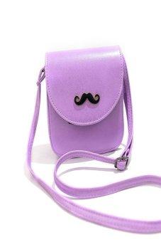 HKS Women Lady Satchel Leather Handbag Messenger Shoulder Bag Tote Purse Light Purple - intl