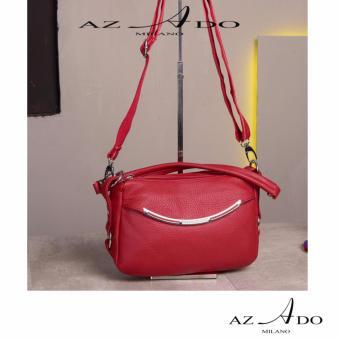 Túi Xách da bò thật TV131, thời trang Azado ( đỏ)