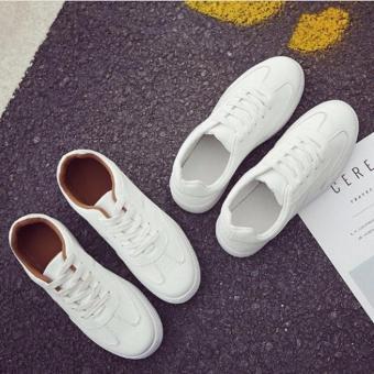 Giày thể thao nữ Hàn Quốc màu trắng nâu 39 -AL