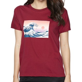 Áo thun nữ The Great Wave Japanese Suvi SuviTF0076 (Đỏ)