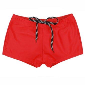 (Swimwear)New Women Shorts Plain Bikini Swim Swimwear Lady Boy Style Short Brief Bottoms Red - intl