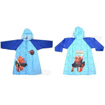 Áo mưa hình nhân vật người nhện Spiderman dành cho trẻ em và các bé nhiều size AMSPM001