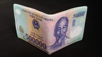 Bóp ví tiền nam hình tờ tiền 500VNĐ