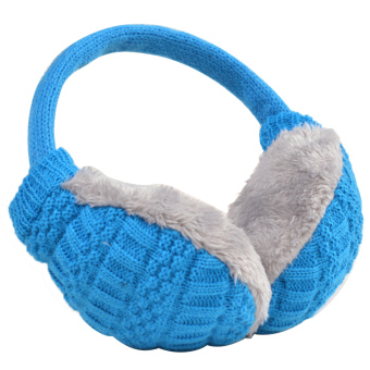 Unisex Women Men Plush Woven Winter Warm Earmuff Earlap Winter Ear Muffs Warmer Muff Sky Blue - intl