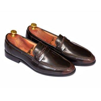 Giày Lười Mùa Hè Da Thật Leo luxury LG101 (Đen)