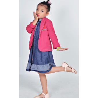 Áo khoác Linen bé gái Somy Kids đỏ hồng