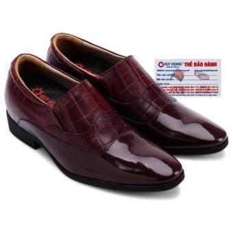 HL7185 - Giày tăng chiều cao Huy Hoàng màu nâu đất