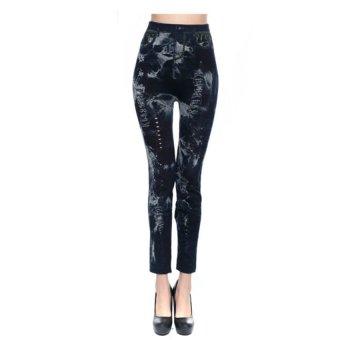Quần Legging giả jeans QDN28 (Đen)