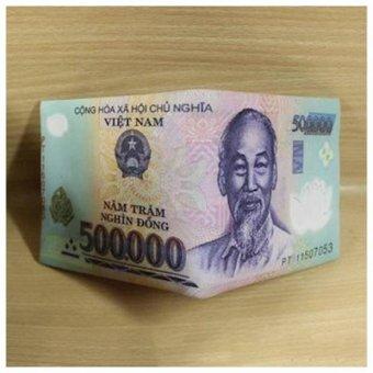 ví tiền nam hình tờ 500 ngàn đồng độc đáo