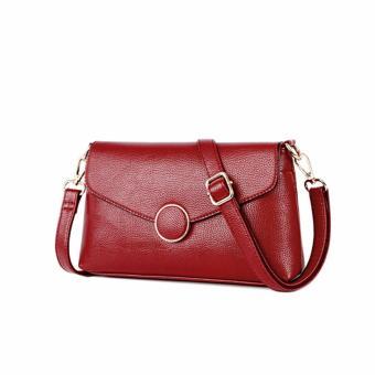 Túi xách nữ cao cấp phong cách Châu Âu AIB062 (Đỏ) - 4337558