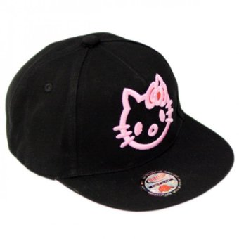 Nón Snapback Black Kitty Girl Juliecaps (Đen)