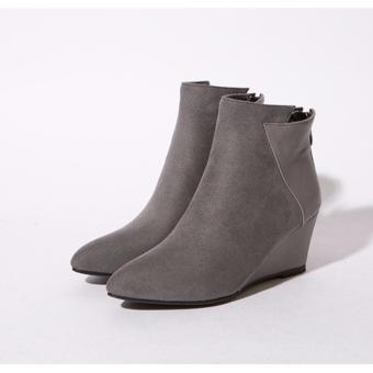 Giày boot nữ đế xuồng sang trọng cao 6.5cm GBN13901