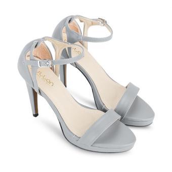 Giày Sandal cao gót Button On BS013 (Xám)
