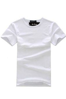 LALANG Men Round Neck T-Shirts White - Intl