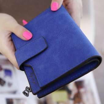 Cyber Fashion Retro Women Short Wallet Coin Purse Organizer Pocket Small Credit Card Holder Money Purse Bag ( Pink ) - intl