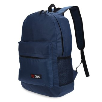 Solid Color Zipper Oxford Portable Backpack Vertical(Purplish Blue) - intl