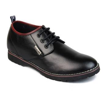 Giày nam công sở tăng chiều cao SMARTMEN GD1-05 (Đen)