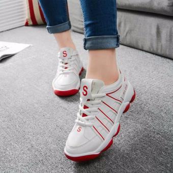 Giày Sneak Nữ Thời Trang Sodoha SWG2569RW - Màu đỏ trắng
