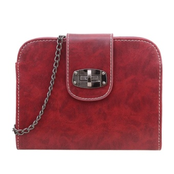 Women Leather Satchel Shoulder Tote Messenger Crossbody Bag (red) - intl