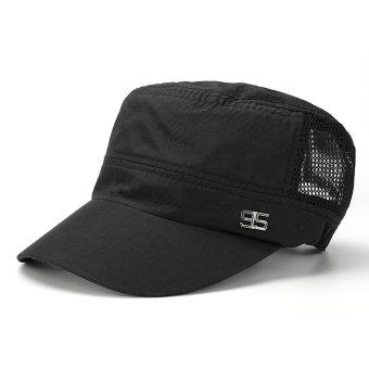 Men Women Army Plain Hat Sunshade Military Mesh Cadet Outdoors Baseball Flat Cap - intl