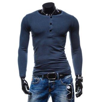 Áo thun dài tay thu đông PTD1 ( xanh đen )
