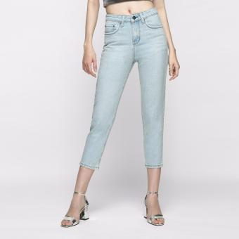 Quần Jeans Boyfriend Trơn