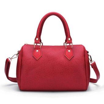 Mua Fashion Women Ladies Leather Handbag Shoulder Messenger Satchel Purse Tote Bags Wine Red - intl giá tốt nhất
