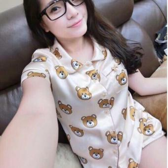 Pyjama Phi Lụa Gấu Teddy