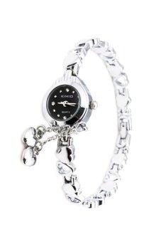 Đồng hồ nữ dây thép không gỉ Kimio K018 (Trắng mặt đen)