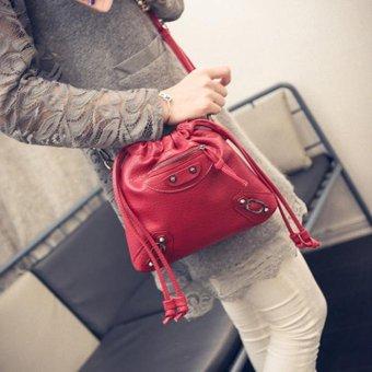 Túi đeo chéo dây rút (Đỏ)