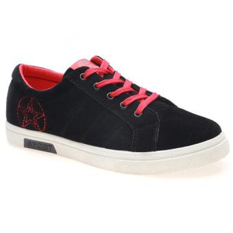 Giày Sneaker Thể Thao Nam Hnp Gn011 (Đen Đỏ)