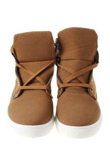 LALANG Sneaker Boots Khaki - intl