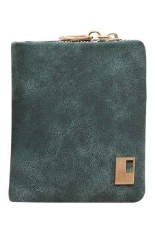 Bluelans Women Matte Faux Leather Zipper Hasp Wallet Purse Card Handbag Army Green (Intl)