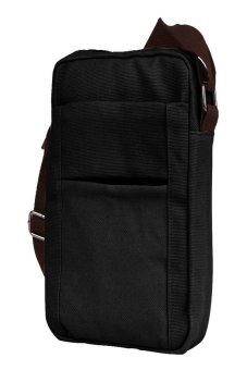 HKS Mens Shoulder Bag (Black) - intl